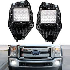 F350 Fog Lights Ijdmtoy Q5 Hyperspot Led Fog Lamp Kit Compatible With 2011 16 Ford F250 F350 F450 Super Duty Includes 2 50w Q5 Cree High Power Combo Beam Hyperspot