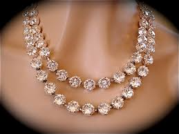 double strand swarovski crystal statement necklace images of
