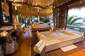 tropical romantic bathtub in north island seychelles