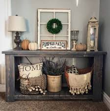 fall entryway table decorating ideas
