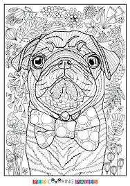 Original Pug Coloring Pages Printable X1390 Free Printable Pug