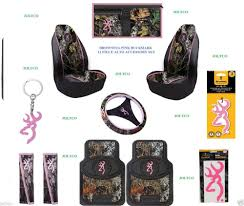pink browning buckmark 11 pc camo auto accessory gift set floor mats seat covers