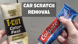 car scratch removal with toothpaste