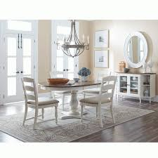 castle hill antique white oak 5 piece dining set oval table with 4 side chairs