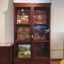 very large vintage glass door display cabinet shelving unit