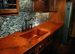 reclaimed wood island counter with hammered copper sink kitchen countertops reclaim