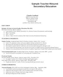 High School Teacher Resume Teacher Resumes High School Teaching ...