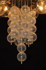 large handblown glass chandelier 1960s