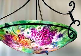 painted chandelier shades pink glass chandelier pale green and pink flower garden painted glass chandelier reverse