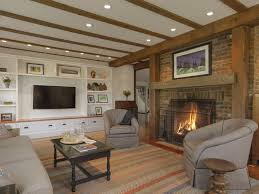Log Cabin Living Room Concept Custom Design Inspiration