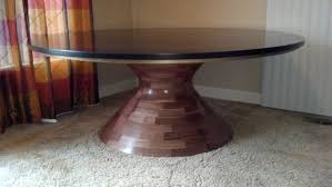 custom made round walnut table base 78 diameter table top