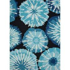 starburst pirate black 8 ft x 10 ft abstract area rug