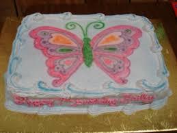 Beautiful Pink Butterfly Birthday Cake