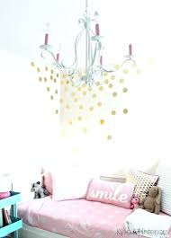 gold chandelier for nursery pink bliss little girls bedroom with pink bliss gold vinyl raindrop decals on the wall with chandelier and decor cute for a