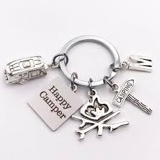 <b>Camping KeyChain</b>, Happy <b>Camper Key Chain</b>, Gift for <b>Camper</b> Gift ...