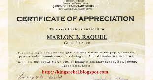 Certificate Of Appreciation Guest Speaker Graduation Affordable