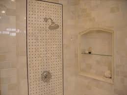 image of tile shower shelf ideas
