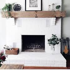 white ideas for painted fireplace
