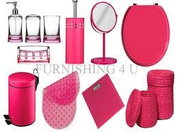 luxury bathroom accessories sets ebay. 11pc hot pink bathroom accessories set, bin, toilet seat, brush, mirror, scale luxury sets ebay