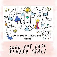 Printable Reward Chart Be Good Not Rude Rewardchart