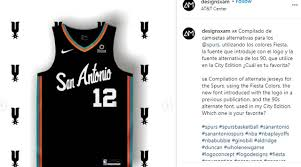 The new black alternate uniform's efficient jersey design simply features the iconic spurs logo prominently over the heart, while the player numbers rest on the right breast, the post read, in part. Fans Show Off Their Latest Spurs Concept Jerseys Woai