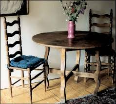 print this item round dining table with shelf 60 diameter