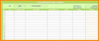 Simple General Ledger To Business Ledger Template Excel Free Financial Simple General