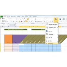 raci chart excel sample raci project management template