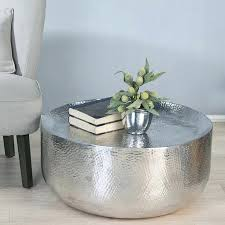 hammered metal side table awesome captivating coffee best ideas about home interior marble drum