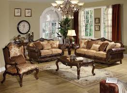 Living Room Classic Decorating Living Room Classic Design 26 Brown Fabric And Wood Traditional