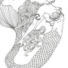 Realistic Mermaid Coloring Pages Download And Print For Free For