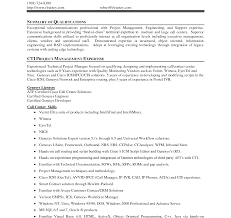 Key Qualifications Resume Sample List To Put On Summary Of For With