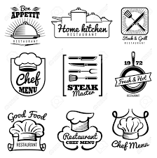 Vintage Logo Vector Restaurant Vector Vintage Logo Chef Retro Labels Cooking In