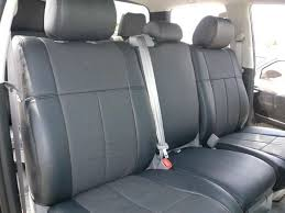 clazzio custom fit synthetic leather seat covers for toyota tacoma double cab image