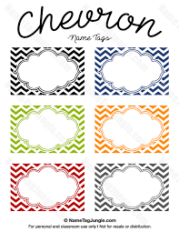 free printable chevron name tags the template can also be used for creating items like