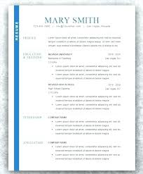 Modern Word Resume Template Resume Template Cv Doc Curriculum Vitae Word Modern