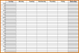 Weekly Calendars With Hours Printable Calendar Weekly With Hours Weekly Calendar With