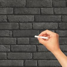erasable black bricks wallpaper