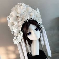 <b>white empress</b> hat for women queen cosplay supplies performance ...