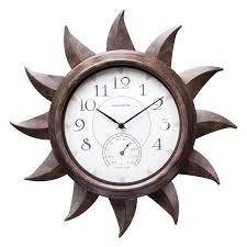 acurite indoor outdoor bronze sun clock