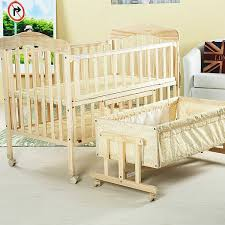 solid wood baby bed multifunctional baby crib newborn
