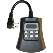 plug in 3 outdoor digital photocell timer