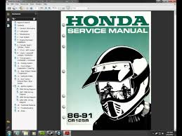 1986 1991 honda cr125 repair manual