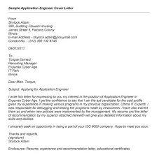 Application Engineer Cover Letter Great Sample Cover Letter For Job