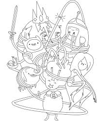 Small Picture Elegant Adventure Time Coloring Book Coloring Page and Coloring