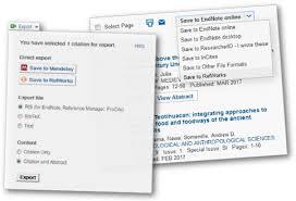 Save References Reference Management Refworks Mendeley