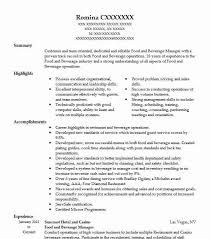 Food And Beverage Manager Resume Example Oasis Hotels And