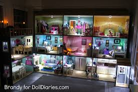 i love the way the dollhouse looks all lit up at night my daughters would play 24 hours a day if i would let them