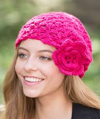 Redheart Free Crochet Patterns Gorgeous Flower Cloche Red Heart