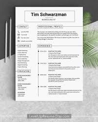 Resume Word Template Modern Resume Template Modern Resume Templates Creative Resume Professional Cv Resume Word Template It Resume Template One Page Curriculum Vitae